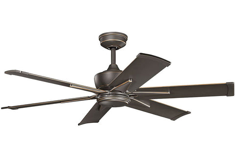 "Kichler 370060OZ-371238OZ 52"" Szeplo Ceiling Fan in Olde Bronze"