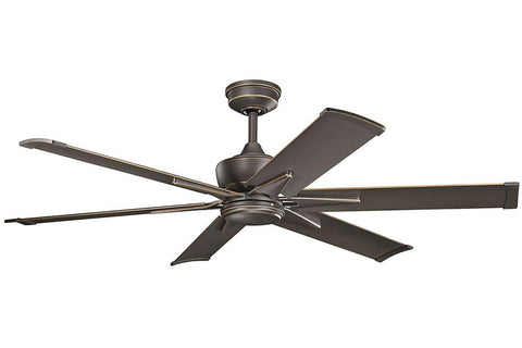 "Kichler 370060OZ-371239OZ 60"" Szeplo Ceiling Fan in Olde Bronze"
