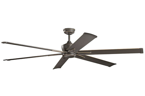 "Kichler 370060OZ-371240OZ 80"" Szeplo Ceiling Fan in Olde Bronze"