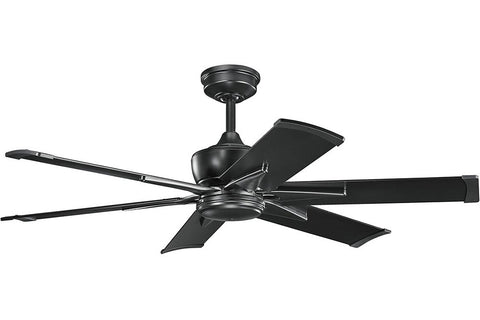 "Kichler 370060SBK-371238SBK 52"" Szeplo Ceiling Fan in Satin Black"
