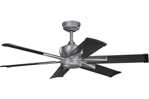 "Kichler 370060WSP-371238SBK 52"" Szeplo Ceiling Fan in Weathered Steel Powder Coat"