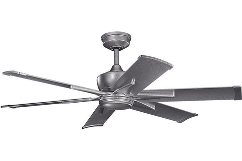 "Kichler 370060WSP-371238WSP 52"" Szeplo Ceiling Fan in Weathered Steel Powder Coat"
