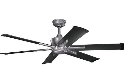 "Kichler 370060WSP-371239SBK 60"" Szeplo Ceiling Fan in Weathered Steel Powder Coat"
