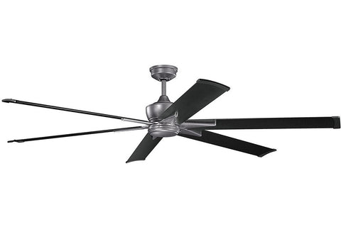 "Kichler 370060WSP-371240SBK 80"" Szeplo Ceiling Fan in Weathered Steel Powder Coat"