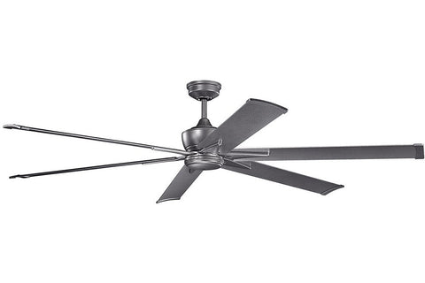 "Kichler 370060WSP-371240WSP 80"" Szeplo Ceiling Fan in Weathered Steel Powder Coat"