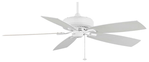"Fanimation - TF710WH - 60"" Ceiling Fan - Edgewood Deluxe - White"