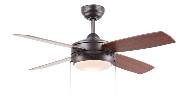 Craftmade - LAV44ESP4LK - 44`` Ceiling Fan with Blades Included - Laval - Espresso