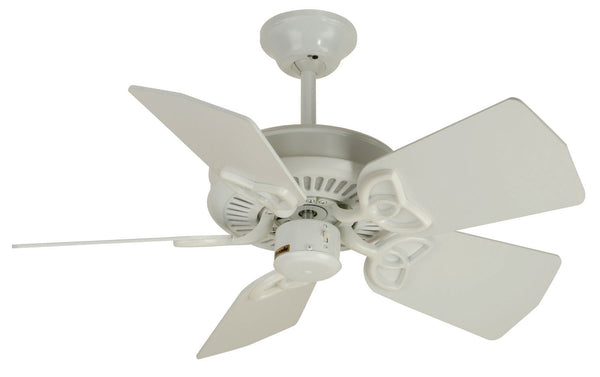 "Craftmade - PI30W - 30"" Ceiling Fan - Blades Sold Separately - Piccolo - White"