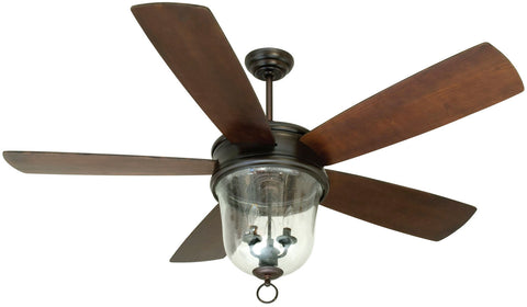 "Craftmade Fredericksburg FB60OBG5 60"" Ceiling Fan with Blades Included in Oiled Bronze Gilded"