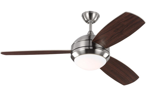 "Monte Carlo 3DIR52BSD 52"" Discus Trio Ceiling Fan in Brushed Steel"