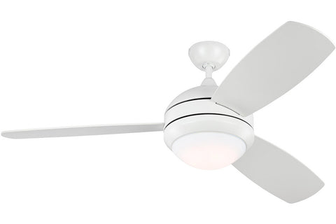 "Monte Carlo 3DIR52RZWD 52"" Discus Trio Ceiling Fan in Rubberized White"