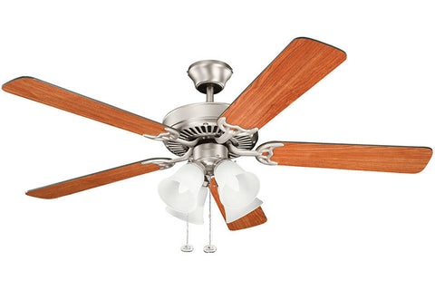 Kichler - 402NI7 - 52``Ceiling Fan - Basics - Brushed Nickel