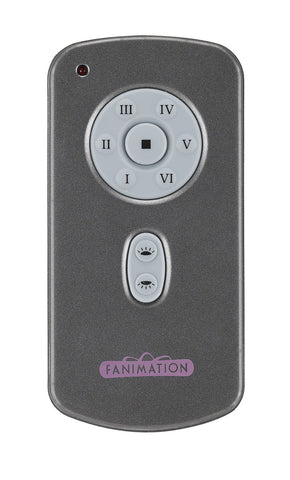 Fanimation - TR31 - Hand Held DC Motor Remote and Transmitter - Controls - Gray