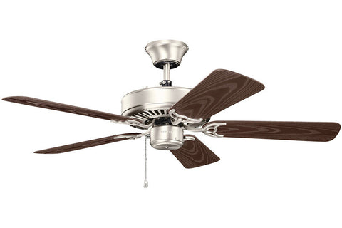 Kichler - 414NI - 42``Ceiling Fan - Basics - Brushed Nickel