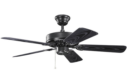 Kichler - 414SBK - 42``Ceiling Fan - Basics - Satin Black