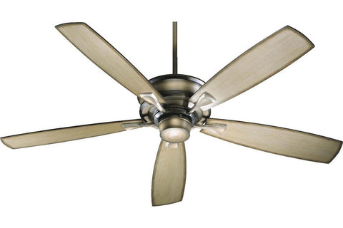 "Quorum 42605-22 60"" Alton in Antique Flemish with Reversible Antique Flemish and Pecan Blades Indoor Rated Ceiling Fan"