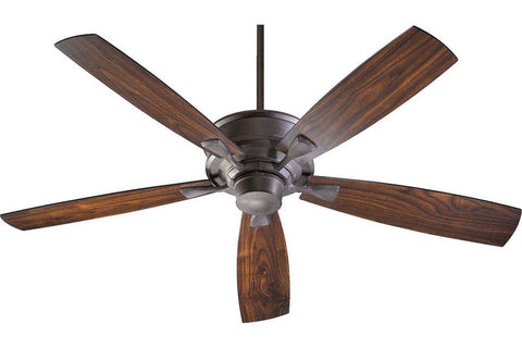 "Quorum 42605-44 60"" Alton in Toasted Sienna with Reversible Toasted Sienna and Walnut Blades Indoor Rated Ceiling Fan"