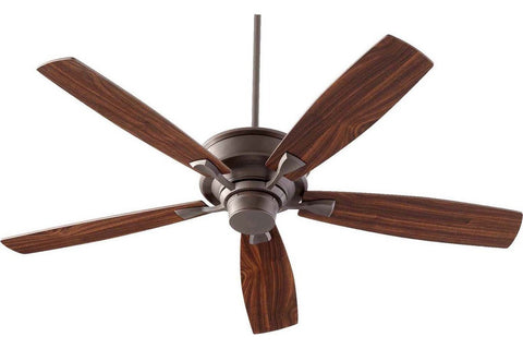 "Quorum 42605-86 60"" Alton in Oiled Bronze with Reversible Teak and Walnut Blades Indoor Rated Ceiling Fan"