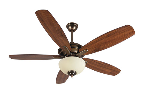 "Craftmade Copeland CN52LB5 52"" Ceiling Fan with Blades Included in Legacy Brass"