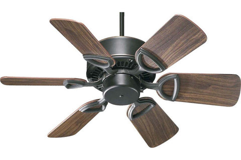 "Quorum 43306-95 30"" Estate in Old World with Reversible Rosewood and Walnut Blades Indoor Rated Ceiling Fan"