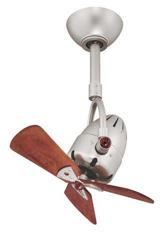"Matthews Fan Co DI-BN-WD 16"" Diane in Brushed Nickel with Solid Wood Blades"
