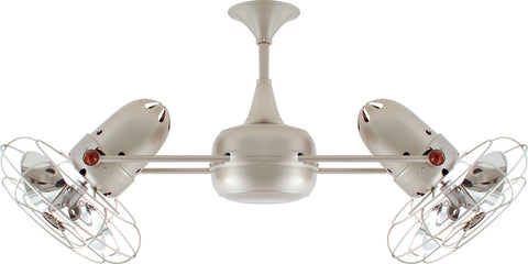 "Matthews Fan Co DD-BN-MTL-DAMP 39"" Duplo Dinamico in Brushed Nickel with Metal Blades"
