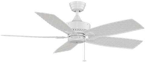 "Fanimation - FP8012WH - 52"" Ceiling Fan - Cancun Wet - White"