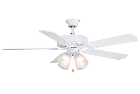 Fanimation - BP210MW1 - 52``Ceiling Fan - Aire Decor 4 LK - Matte White