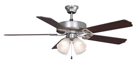 Fanimation - BP210SN1 - 52``Ceiling Fan - Aire Decor 4 LK - Satin Nickel