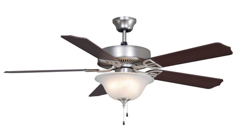 Fanimation - BP220SN1 - 52``Ceiling Fan - Aire Decor Bowl - Satin Nickel