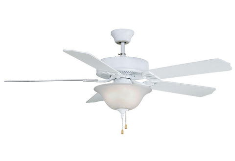 Fanimation - BP220MW1 - 52``Ceiling Fan - Aire Decor Bowl - Matte White