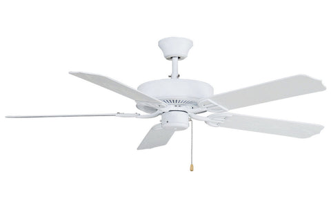 "Fanimation - BP230MW1 - 52"" Ceiling Fan - Aire Decor Damp - Matte White"
