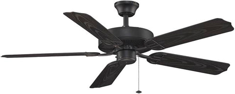 Fanimation - BP230BL1 - 52``Ceiling Fan - Aire Decor Damp - Black