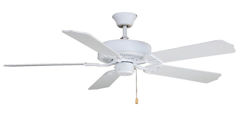 "Fanimation - BP200MW1 - 52"" Ceiling Fan - Aire Decor - Matte White"