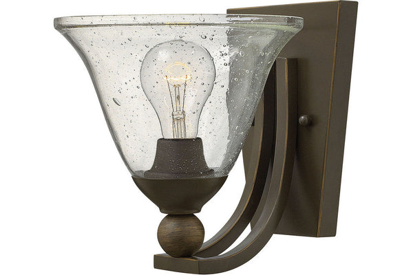 Hinkley 4650OB-CL Bolla Glass Wall Sconce Lighting in Olde Bronze with Clear Seedy Glass