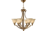 Hinkley 4656BR Bolla Large Glass 1 Tier Chandelier Lighting in Brushed Bronze with Light Amber Seedy Glass