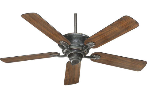 "Quorum 49525-95 52"" Liberty in Old World with Reversible Old World and Walnut Blades Indoor Rated Ceiling Fan"