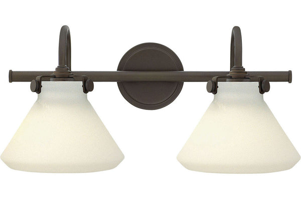 Hinkley 50020OZ Congress Glass Wall Vanity Lighting in Oil Rubbed Bronze with Etched Opal Glass