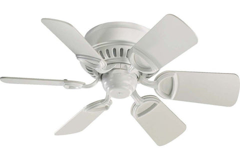 "Quorum 51306-8 30"" Medallion in Studio White with Studio White Blades Indoor Rated Ceiling Fan"
