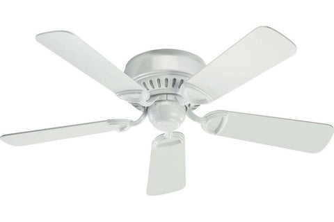 "Quorum 51425-6 42"" Medallion in White with White Blades Indoor Rated Ceiling Fan"