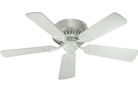 "Quorum 51425-8 42"" Medallion in Studio White with Studio White Blades Indoor Rated Ceiling Fan"