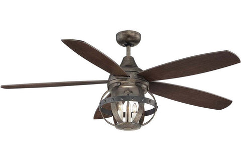 "Savoy House 52-840-5CN-196 52"" Alsace in Reclaimed Wood with Chestnut Blades Indoor Rated Ceiling Fan"