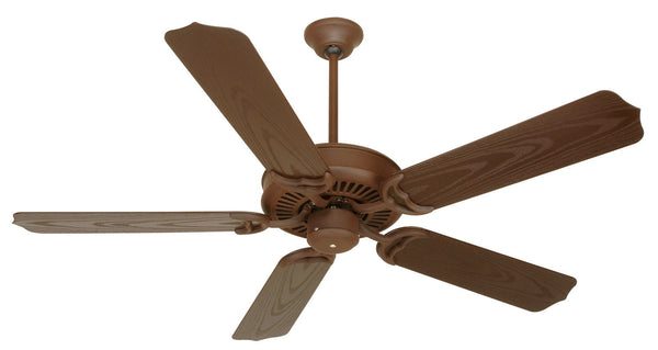 "Craftmade - PF52RI - 52"" Ceiling Fan - Blades Sold Separately - Porch Fan - Rustic Iron"
