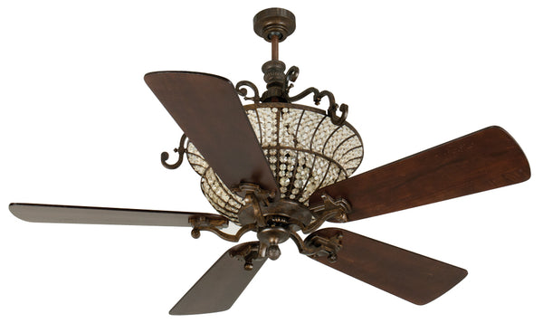 "Craftmade - K10878 - 52"" Ceiling Fan Motor with Blades Included - Cortana - Peruvian Bronze"