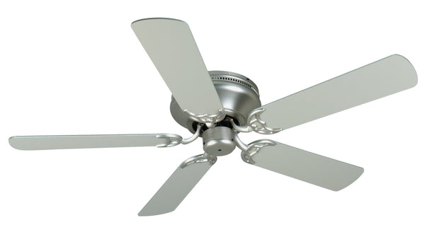"Craftmade - K11000 - 52"" Ceiling Fan Motor with Blades Included - Pro Contemporary Flushmount - Brushed Satin Nickel"