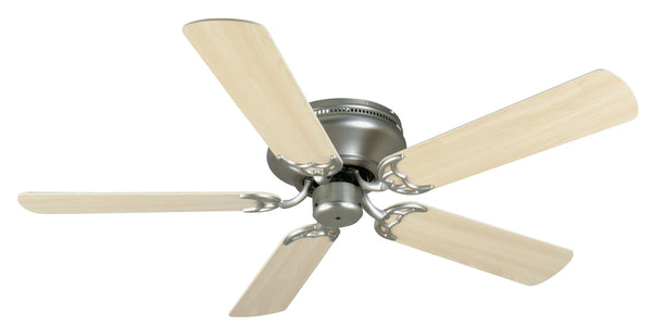 "Craftmade - K11002 - 52"" Ceiling Fan Motor with Blades Included - Pro Contemporary Flushmount - Brushed Satin Nickel"