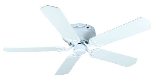 "Craftmade - K11006 - 52"" Ceiling Fan Motor with Blades Included - Pro Contemporary Flushmount - White"