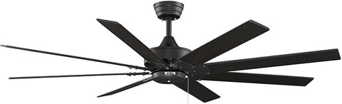 "Fanimation - FP7910BL - 63"" Ceiling Fan - Levon AC - Black"