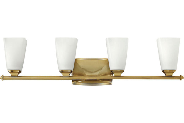Hinkley 53014BC Darby Glass Wall Sconce Lighting in Brushed Caramel with Etched Opal Glass