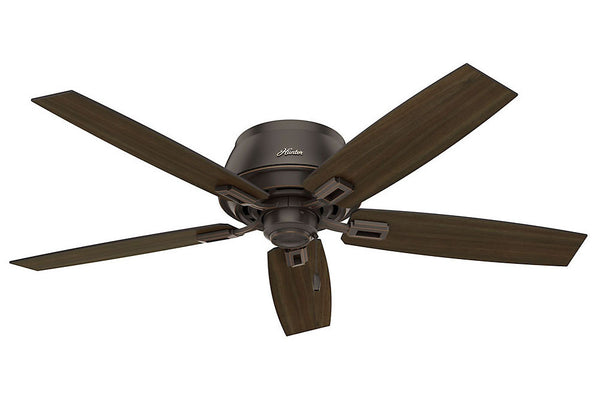 "Hunter Donegan Collection - 52"" Ceiling Fan in Onyx Bengal Three Light Kit"